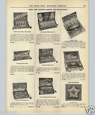1951 PAPER AD Noma Christmas Tree Lights Bubble Sets Glo-Ray All Metal Star