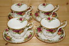"""Royal Albert Old Country Roses (8) Cups 2 7/8"""" & (7) Saucers 5 1/2"""" ENGLAND"""