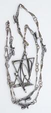 Vintage Rachel Gera Sterling MCM Modernist Brutalist Pendant Necklace
