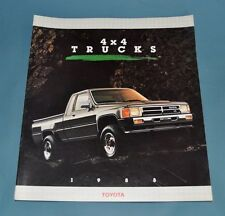1988 Toyota 4 X 4 Truck Sales Brochure