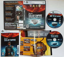 Sins of a Solar Empire (PC, DVD, 2008) COMPLETE VIDEO GAME ORIGINAL