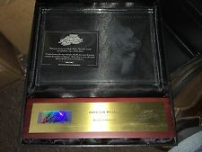 2003 Playoff Absolute Mem GARRISON HEARST SIGNED AUTO Etched Glass PLAQUE /50