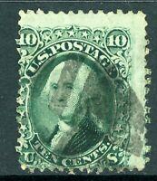 USA 1861 Washington 10¢ Green Scott # 68 VFU B703 ⭐⭐⭐⭐⭐⭐