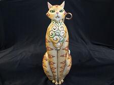 "JIM SHORE HEARTWOOD CREEK 19"" CAT FIGURE #4002237 - RETIRED 2004"
