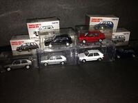 VW Golf 2 GTI 16V + CL Schwarz Grau Rot Blau Weiß Silber Tomica Tomytec 1:64