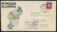 Mayfairstamps Germany First Flight 1958 Cover Dresden To Erfurt wwk29615