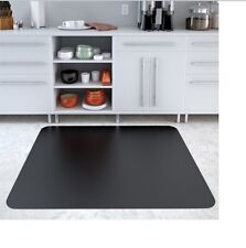 "36""x48"" Rectangle Floor Chair Mat Hard Home Office Non-Studded Solid Black New"
