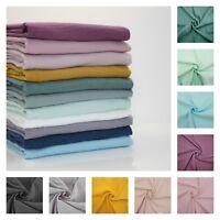 PLAIN DOUBLE GAUZE 100% cotton Fabric Dressmaking Muslin Oeko-tex Free Postage