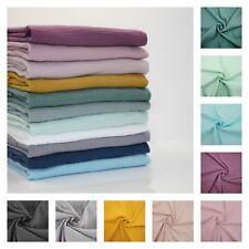 PLAIN DOUBLE GAUZE 100% cotton Fabric Dressmaking Muslin Oeko-tex