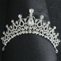 Wedding Bridal Bridesmaid Prom Party Crystal Rhinestone Crown Tiara Headban H5J9