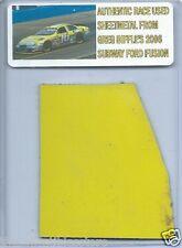 GREG BIFFLE 2006 SUBWAY FORD FUSION AUTHENTIC NASCAR RACE USED SHEETMETAL #02