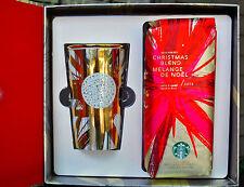 Starbucks Limited Edition Gold shine Swarovski Mug Set Brand New