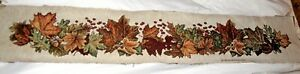 David Carter Brown Autumn Leaves & Acorns Tapestry Table Runner Fabric Piece