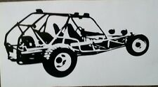 1 dune rail sand buggy vw decal Sticker Car Window Truck