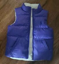 Polo Ralph Lauren Gilet bodywarmer kids age 4-6 Reversible purple white VGC