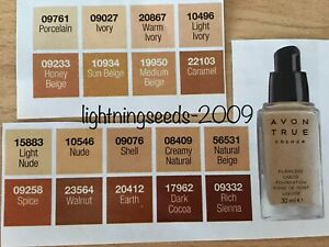 Avon True Colour Flawless Liquid Foundation 30ml VARIES SKIN TYPE SHADES
