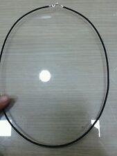 Collana caucciù  60 cm terminali e chiusura in  argento 925  necklace silver