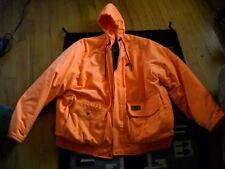 Gorgeous Duxbak ORANGE Hooded Hunting Coat WARM! C-3