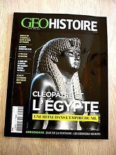 REVUE  GEO HISTOIRE  N° 56 -  AVRIL  2021   /   CLEOPÂTRE  ET  L'EGYPTE