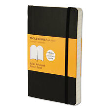 Moleskine Classic Softcover Notebook Ruled 5 1/2 x 3 1/2 Black Cover 192 Sheets