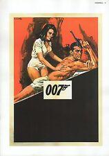 "2002 Vintage JAMES BOND 007 ""THUNDERBALL"" ITALY MINI POSTER Art Plate Lithograph"