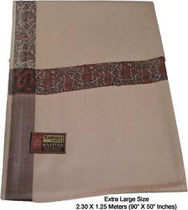 Unisex EXTRA LARGE & WIDE Hand Woven Meditation Lohi Shawl Wrap Dusty Brown-195