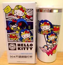 NIB Genuine Official Sanrio Hello Kitty x DC Comic Wonder Woman Thermos Tumbler