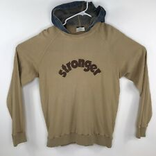Vintage 1978 Dolce & Gabbana Stronger Longsleeve Shirt Denim Hood Men's Medium M