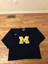 Michigan Wolverines NCAA Nike Team Issued Used Men's Hockey Practice Jersey