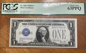 1928B $1 Silver Certificate PMG 63 PPQ Fr 1602