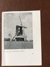 F1d Ephemera 1950s picture windmill worlingworth suffolk