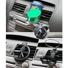 Car Drink Bottle Cup Holder Small Fan Stand Rack Mount Truck Vehicle Folding x1