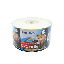 200 Philips Blank 16x White Inkjet Hub Printable DVD+R Plus R Disc Media