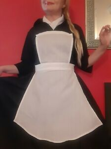 Small White Nurse's Apron Fancy Dress Costume Vintage 30's 40's War WW2 Uniform
