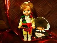 lot poupées le mignon KIKI et le poupon vintage ,regard en coin