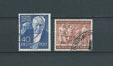 ALLEMAGNE BERLIN - 1954 YT 109 à 110 - TIMBRES OBL. / USED - COTE 8,00 €