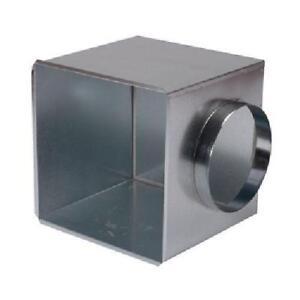 Metal Side Entry Plenum Back Box Spigot