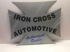 "Steel Advertising Automotive Sign ""Iron Cross Automotive"" Auto Dealer Sign N1"