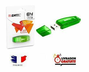 Clef USB 64Go Emtec cle USB 64 Go USB Flash Drive Color Mix USB 2.0 clé USB 64