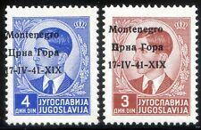 Occupazioni Montenegro 1941 n. 5i + 6i ** varietà (m3215)