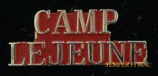 CAMP LEJEUNE HAT LAPEL PIN UP US MARINE CORPS BASE MCB MARINES VETERAN GIFT WOW