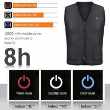 Electric Vest Heated Jacket USB Thermal Heat Pad Winter Body Warmer Unisex