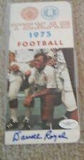 1975 signed Texas Football Media Guide Darrell Royal Texas Longhorns JSA