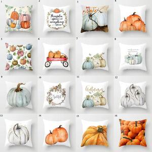 UK Fall Halloween Pumpkin Pillow Case Waist Throw Cushion Cover Sofa Home Decor
