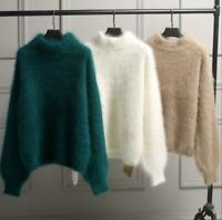 Winter Womens Sweater Cashmere Wool Thicken Loose Casual Warm Coat Fluffy Jumper