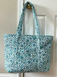 Vera Bradley Iconic GET CARRIED AWAY TOTE Cloud Vine XL Travel Compliant Bag NWT