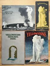 1927 Rare Yellowstone Railway Wyoming Travel Vintage Photograph Illustrated Rail