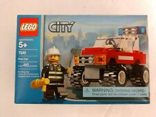 LEGO City 7241 Fire Car Factory Sealed NEW NIB Fireman Minifigure