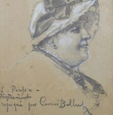 Portrait d'élegante / mention :repiqué par Pierre CARRIER-BELLEUSE (1851-1932)