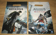 Assassins Creed 4 Black Flag & Watch Dogs mini Tüte / Shopping bag 34x22cm